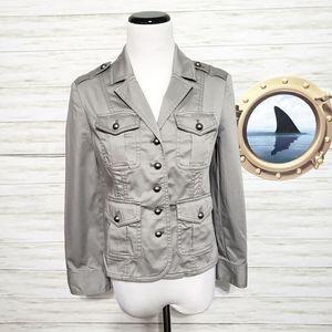 White House Black Market military jacket new
